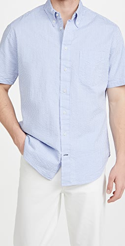 Gitman Vintage - Tonal Seersucker Short Sleeve Shirt