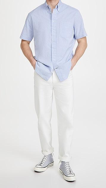 Gitman Vintage Tonal Seersucker Short Sleeve Shirt
