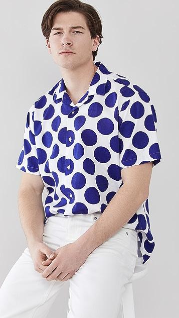 Gitman Vintage Big Dots Camp Shirt