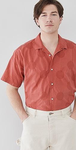 Gitman Vintage - Large Dot Short Sleeve Shirt