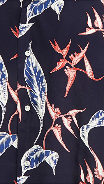 Gitman Vintage Rayon Floral Camp Shirt