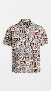 Gitman Vintage Botanical Block Print Camp Shirt