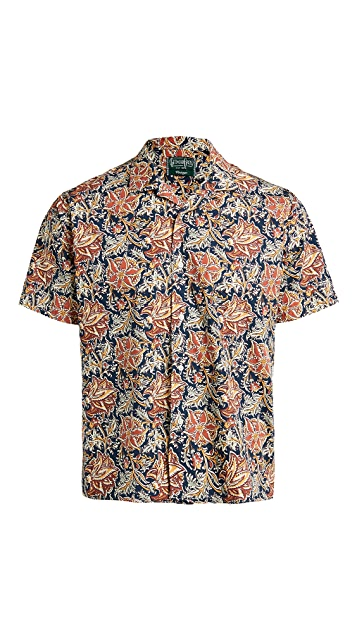 Gitman Vintage Floral Block Print Camp Shirt