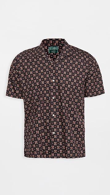 Gitman Vintage Window Batik Block Print Camp Shirt