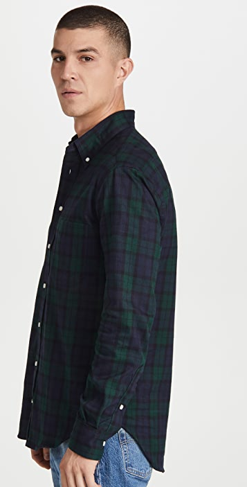 Gitman Vintage Blackwatch Tartan Flannel Button Down Shirt