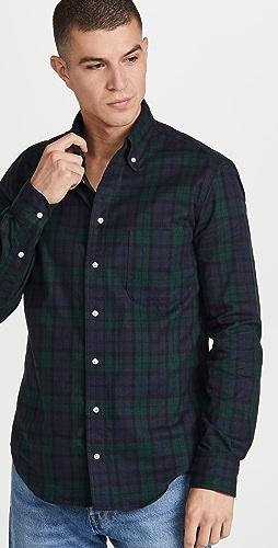 Gitman Vintage - Blackwatch Tartan Flannel Button Down Shirt