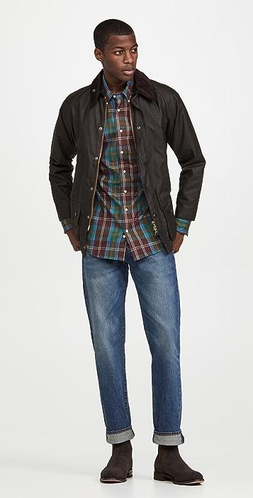 Gitman Vintage Hunting Tartan Flannel Button Down Shirt