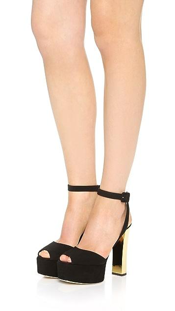 Giuseppe Zanotti Suede Heeled Sandals