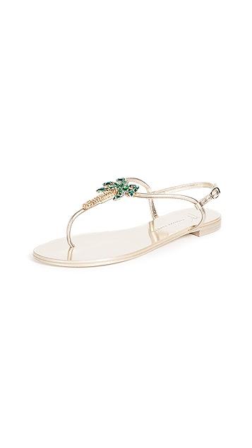 Giuseppe Zanotti Flat Palm Tree Sandals