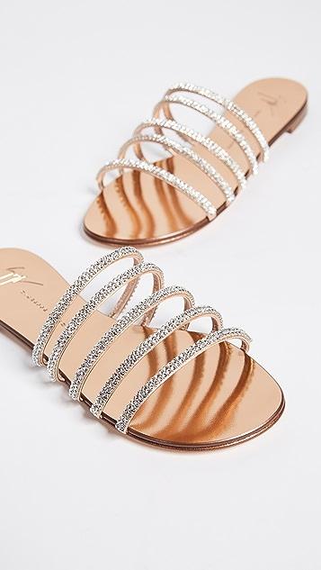 Giuseppe Zanotti Multi Strap Flat Sandals