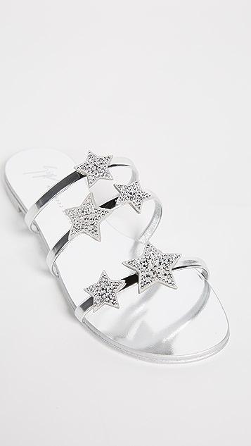 Giuseppe Zanotti Flat Star Sandals