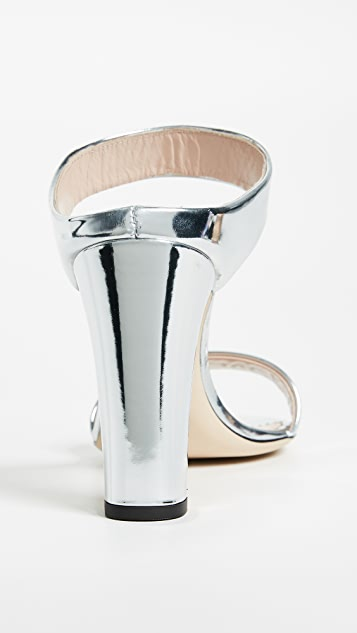 Giuseppe Zanotti Metallic Mule Sandals