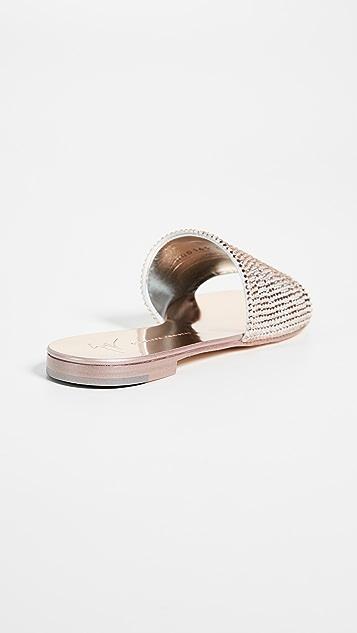 Giuseppe Zanotti Metallic Slides