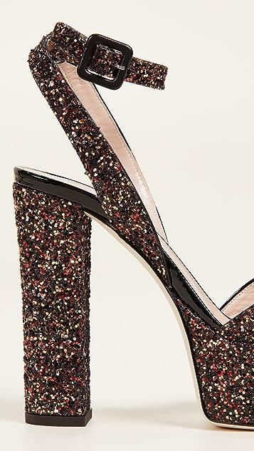 Giuseppe Zanotti Platform Glitter Sandals