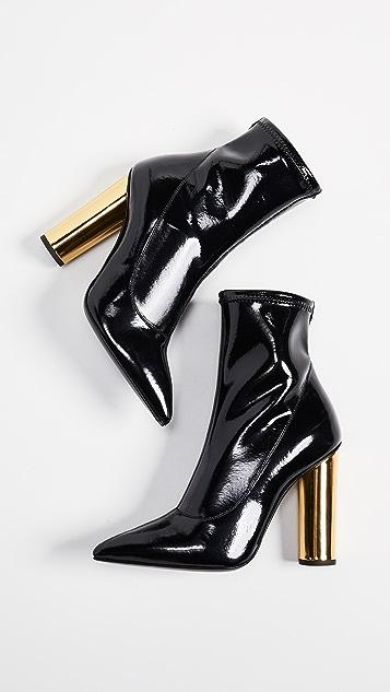 Giuseppe Zanotti Metallic Heel Stretch Booties
