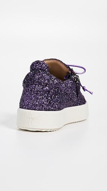 Giuseppe Zanotti Side Zip Glitter Sneakers