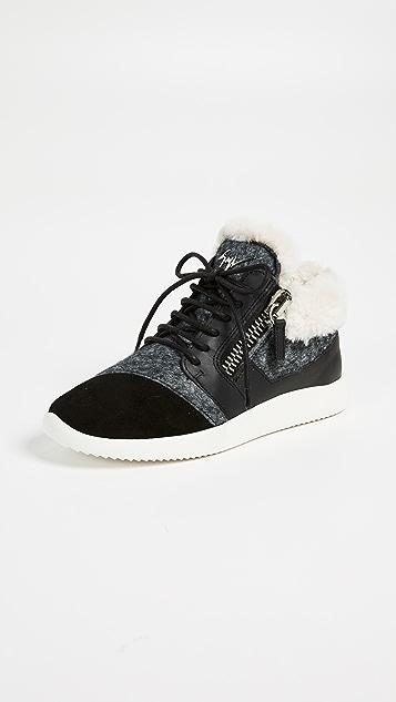 48d7eb719344 Giuseppe Zanotti Faux Fur Lined Sneakers