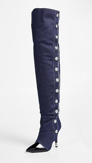 794ec0361f81 Giuseppe Zanotti Stud Thigh High Boots