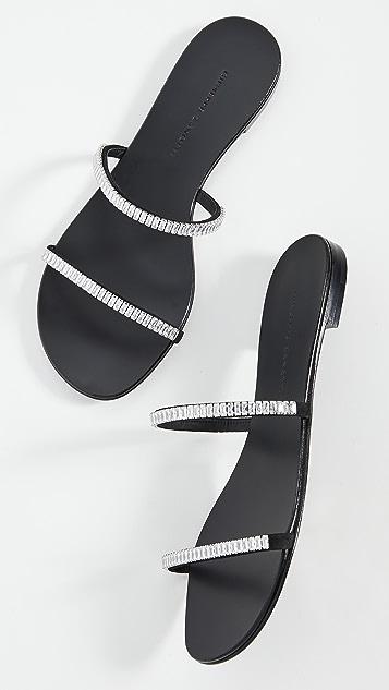 Giuseppe Zanotti 水晶无跟便鞋