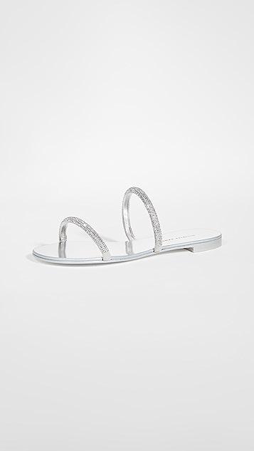 Giuseppe Zanotti 水晶元素便鞋