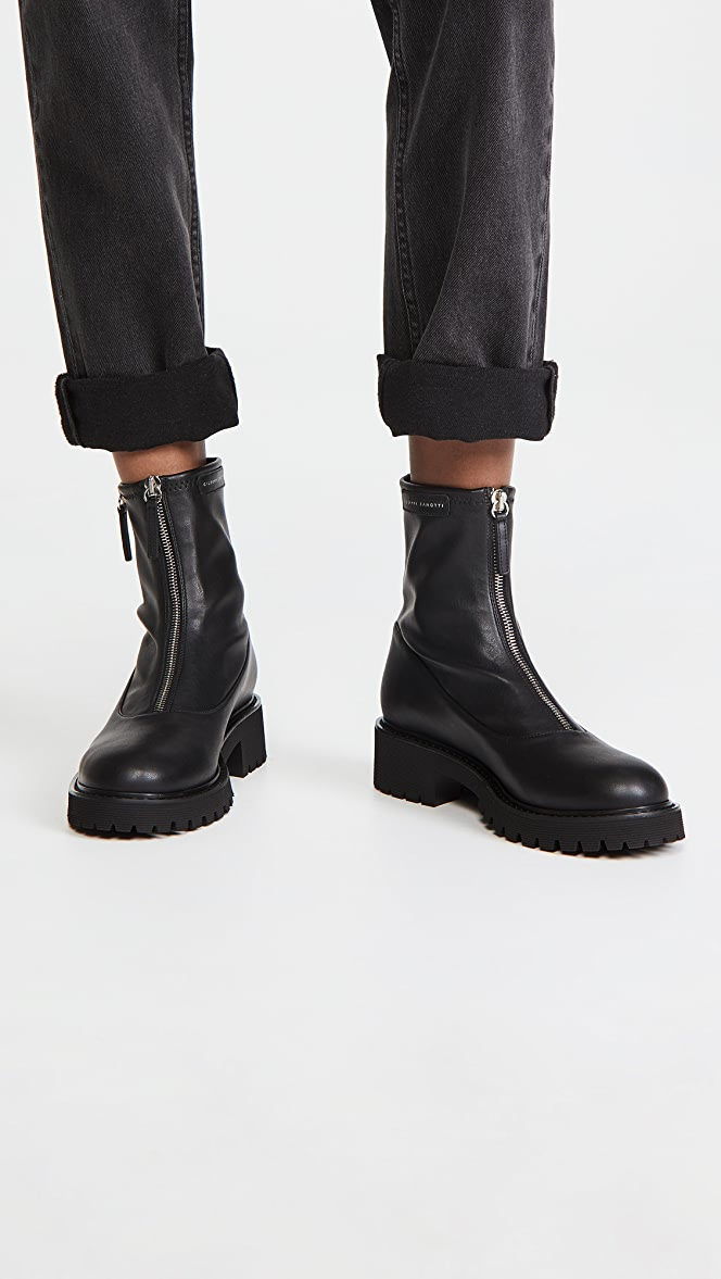 Giuseppe Zanotti Zip Up Combat Boots