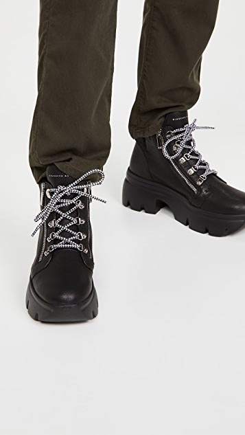 Giuseppe Zanotti Lace Up Ankle Hiker Booties