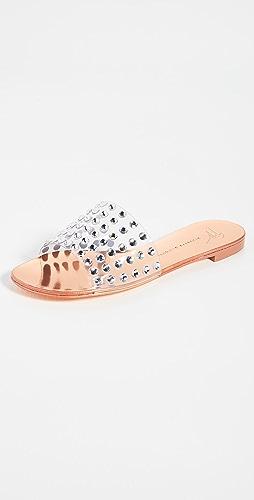 Giuseppe Zanotti - PVC 装饰凉拖鞋
