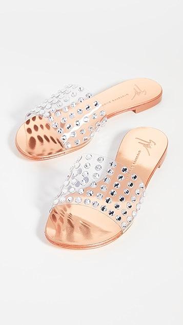 Giuseppe Zanotti PVC 装饰凉拖鞋