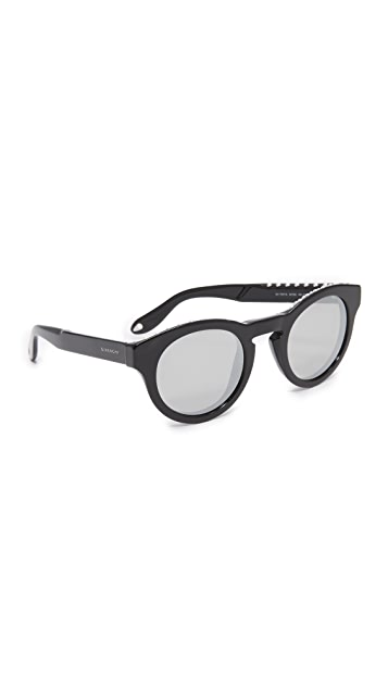 16645c4b70c Givenchy Round Studded Mirrored Sunglasses