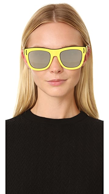 Givenchy Rubber Mirrored Sunglasses