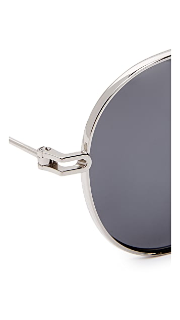 Givenchy Polarized Aviator Sunglasses