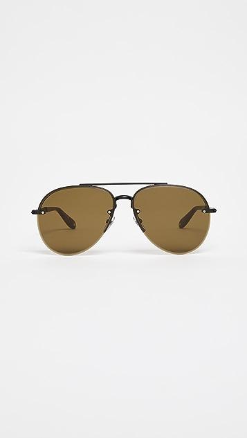 Givenchy Aviator Sunglasses - Matte Black/Brown