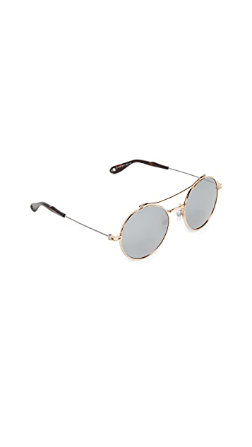 Givenchy Round Browbar Sunglasses