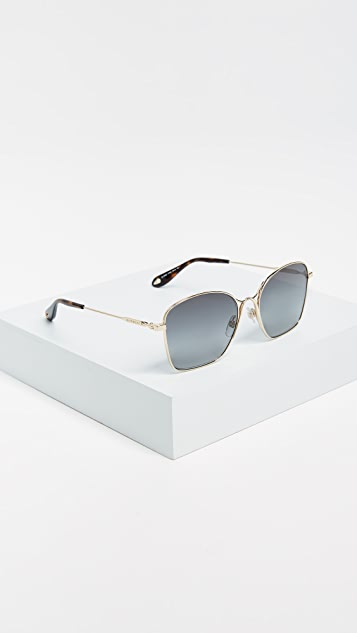 Givenchy Square Metal Frame Sunglasses