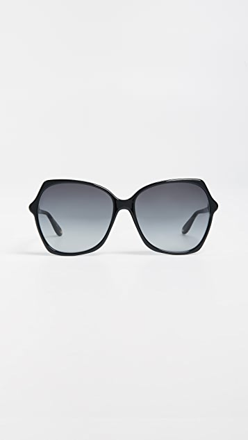 Givenchy Oversized Square Sunglasses - Black/Dark Grey Gradient