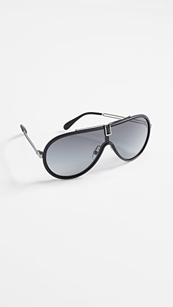 Givenchy Round Aviator Shield Sunglasses