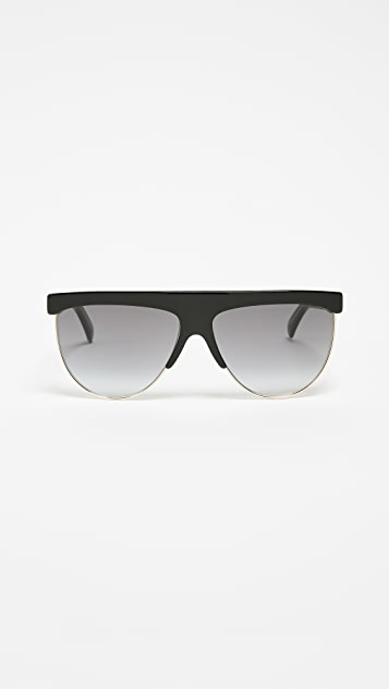 Givenchy Rounded Shield Sunglasses