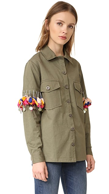 Glamorous Pom Military Shirt