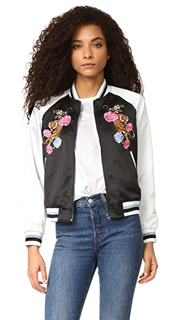 4e6cda4e2 Floral Embroidered Bomber Jacket