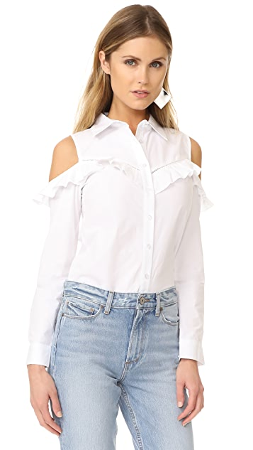 Glamorous Ruffle Cold Shoulder Blouse