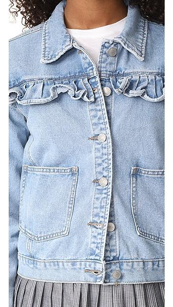 Glamorous Ruffle Jean Jacket