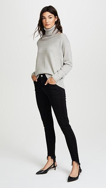 Glamorous Cold Shoulder Turtleneck Sweater