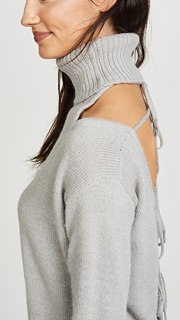 Glamorous Cold Shoulder Turtleneck Sweater