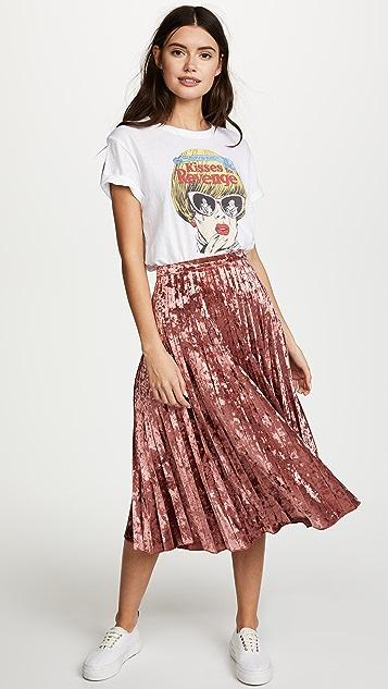 Glamorous Pleated Velvet Skirt