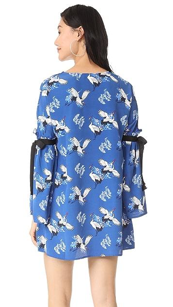 Glamorous Heron Printed Dress