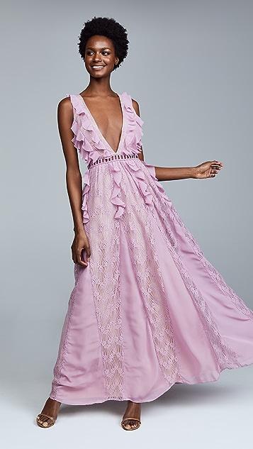 Glamorous True Decadence Lace Ruffle Dress