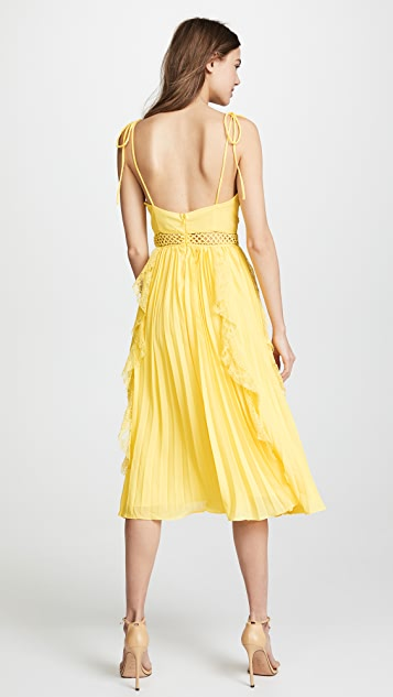 Glamorous Ruffled Pleats Dress