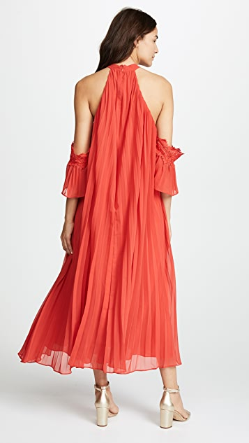 Glamorous True Decadence Maxi Dress with Pleats