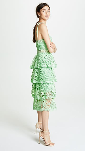 Glamorous True Decadence Dress with Tiered Lace