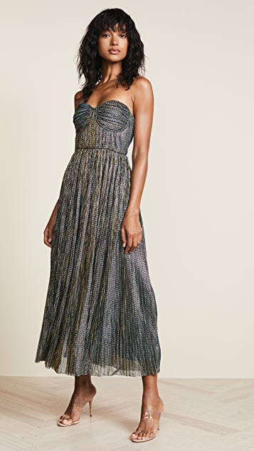 b4576a393e46 Glamorous Metallic Strapless Dress